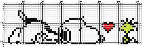 Schema punto croce Snoopy-5