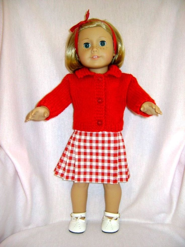 Doll clothes/ HANDMADE Skirt/Sweater Set/Fits American Girl Doll #Unbranded