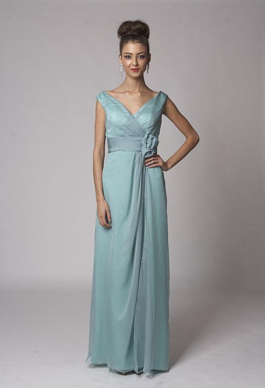 Little mint evening dress