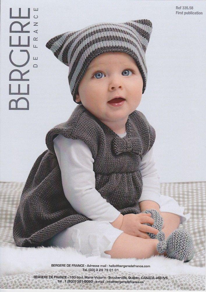 Dress, Hat & Bootees in Bergere de France Ideal - 33558 - Bergere de France - Brand - Patterns