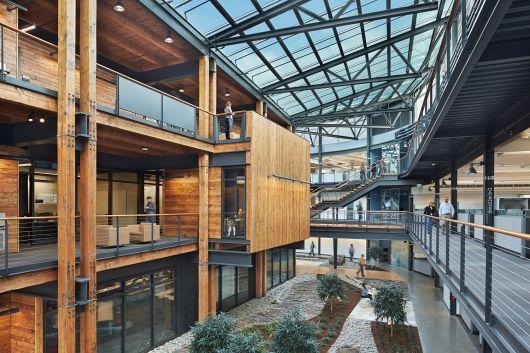 Shortlist for World Interiors News Annual Awards 2014 | Workspace Interiors: Federal Center South Building 1202 by ZGF Architects LLP. Photo credit: Benjamin Benschneider | Bustler