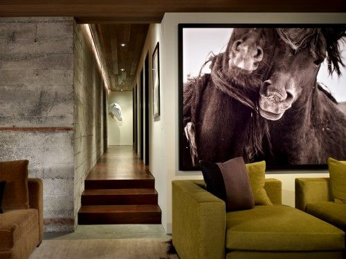 This could be my favorite living room ever.  First saw this in Met Home yrs ago.  Amazing art is by Tunney Art.