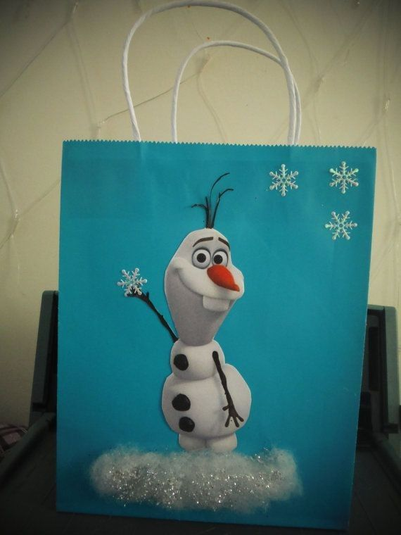 cute Frozen Olaf treat bag ideas that you should learn for 2014 Halloween