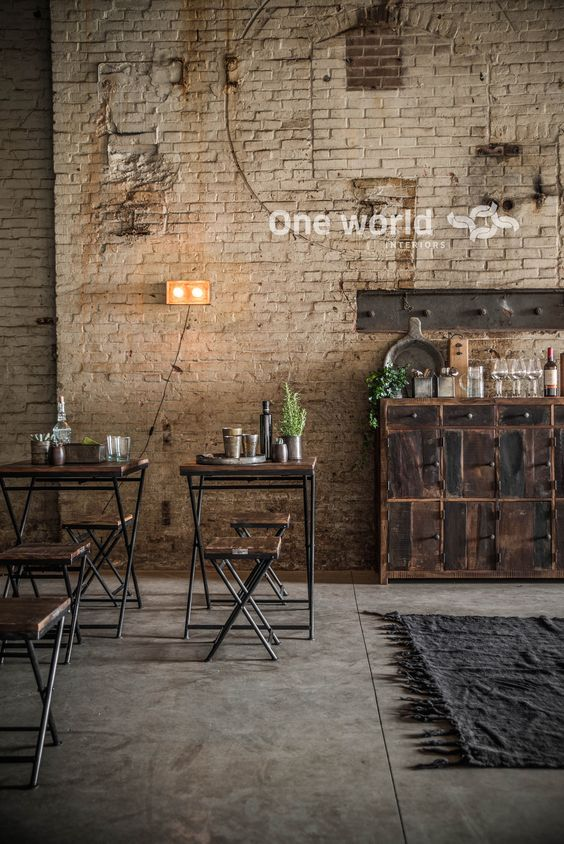 One World interiors - Factory folding tables & chairs - Picture: Paulina Arcklin: