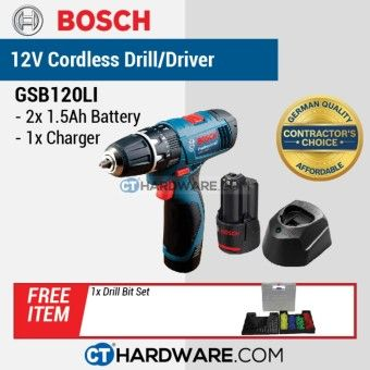 Special Reviews BOSCH GSB120LI Cordless Impact Drill Lightseries 12V Professional + Free GiftsOrder in good conditions BOSCH GSB120LI Cordless Impact Drill Lightseries 12V Professional + Free Gifts You save BO647HLAA6368HANMY-12430024 Tools, DIY & Outdoor Power Tools Drills & Drivers Bosch BOSCH GSB120LI Cordless Impact Drill Lightseries 12V Professional + Free Gifts