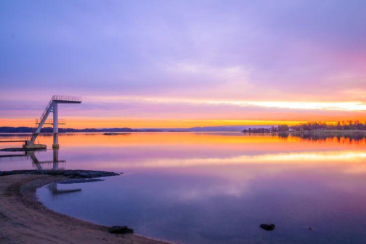 January morning at Hvalstrand, Norway .