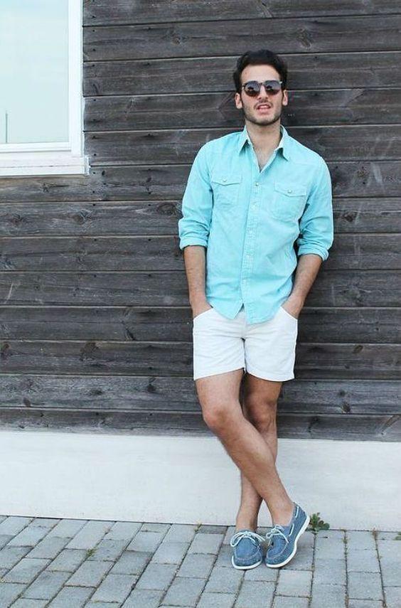 28dc10881 Bermuda Branca Masculina. Macho Moda - Blog de Moda Masculina: BERMUDA  MASCULINA 2018: 5 Modelos que estão em alta. Moda para Homens, Roupa de  Homem, ...