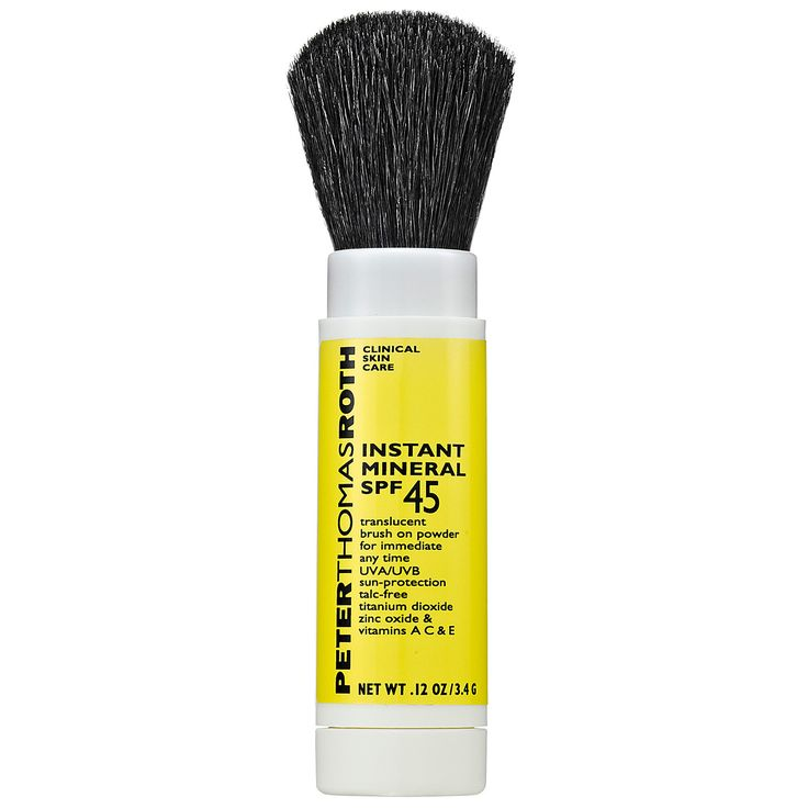 Reapply (mineral powder) sunblock without having to re-do your makeup! / Peter Thomas Roth Instant Mineral Powder SPF 45: Face | Sephora $30