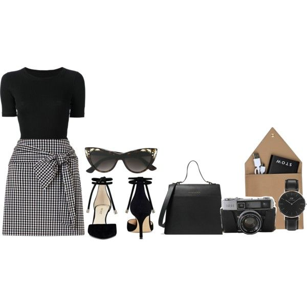 A fashion look from October 2017 featuring CÉLINE t-shirts, Miss Selfridge skirts and Nine West pumps. Browse and shop related looks.