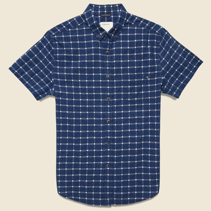 Strand Shirt - Dark Blue Plaid
