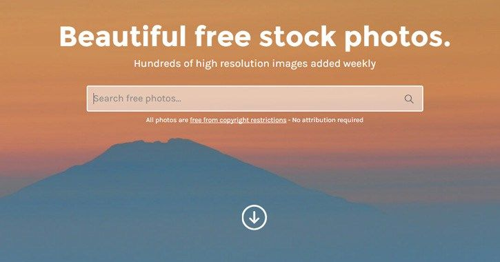 Listing of free stock photography services
