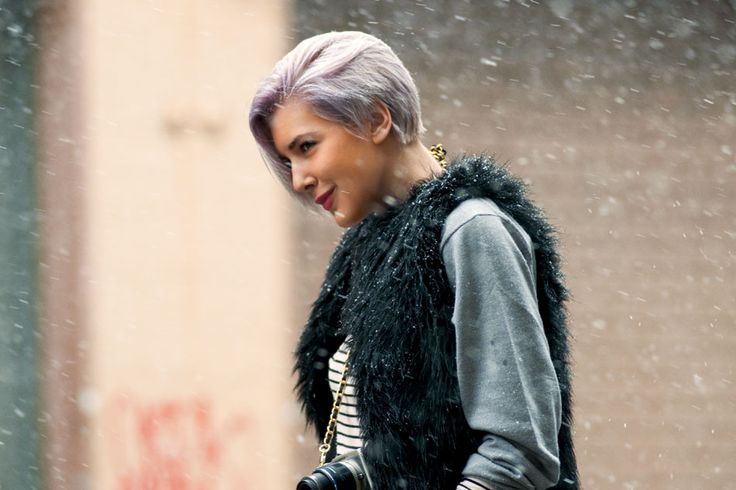 braving the snow with a smirk - snaps for sarah nicole prickett's hair