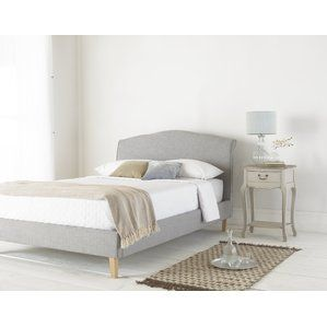hawk haven upholstered bed frame with mattress