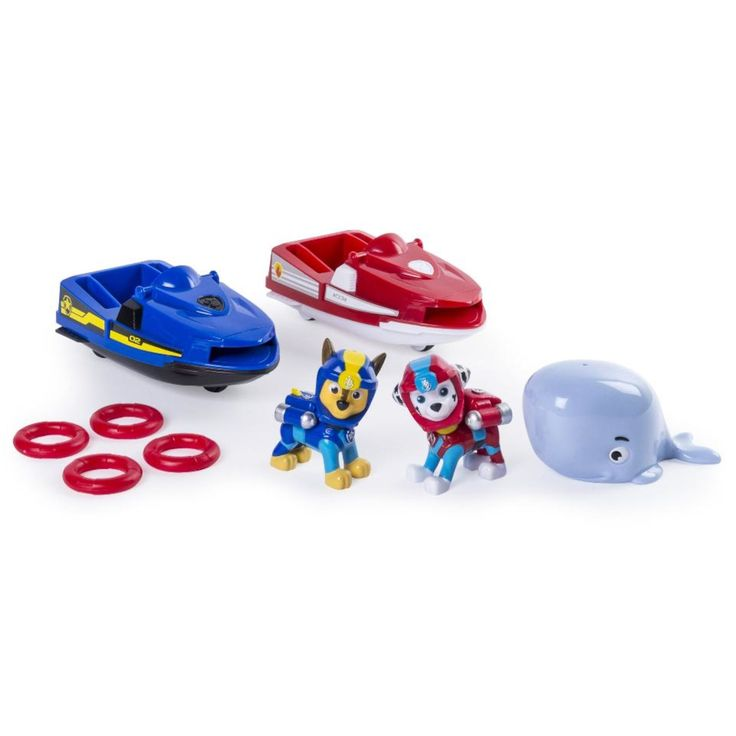 Paw Patrol Adventure Beach Chase and Marshall's Rescue Jet Skis Playset