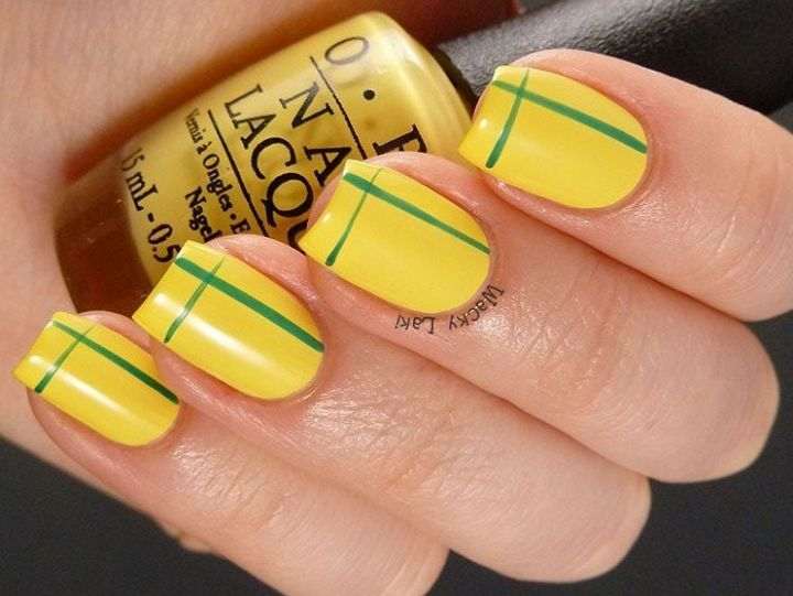 nail art, Copa do Mundo, nail art verde e amarelo, Brasil