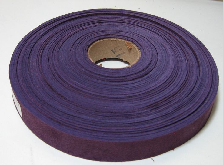 """3/4"""" Flat Violet Pig Suede Binding (5 yds) 0750NP4 trim tape; edge binding; leather tape"""