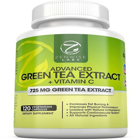 Green Tea Extract Supplement with EGCG for Weight Loss - Decaffeinated Vegetarian Pills for Metabolism Boost and Heart Health with Vitamin C - Natural Source of Energy- 120 Vcaps by Zenwise Labs.jpg