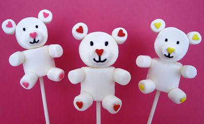 marshmallow teddy pops