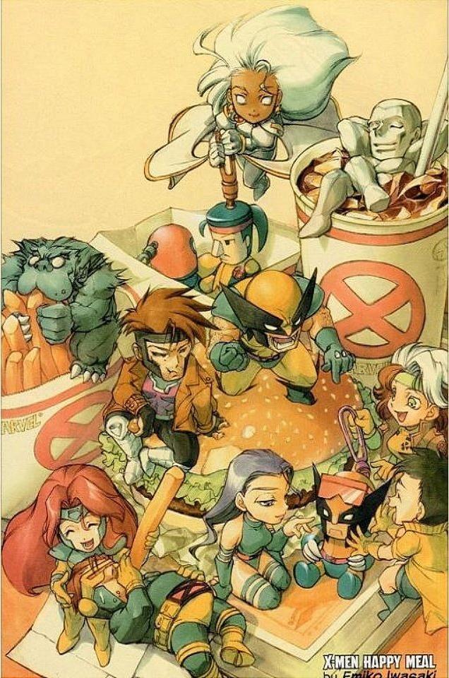 X-Men bem pequenos pequenininhos