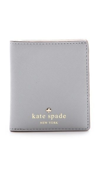 perfect smoke gray Kate Spade mini wallet Cherry Lane small Stacy Wallet