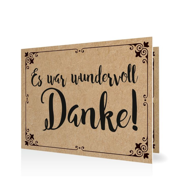 Dankeskarte Traumhafter Text in Mitternacht - Klappkarte flach #Hochzeit…