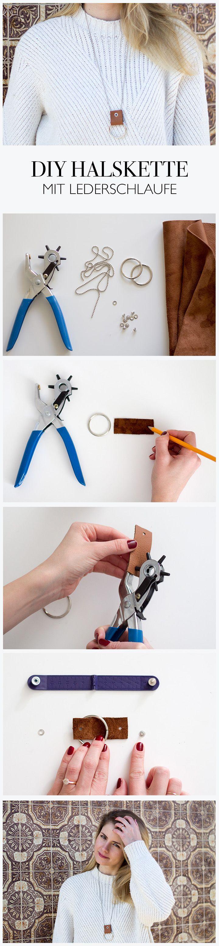 DIY Halskette mit Lederschlaufe selber machen - lindaloves.de DIY Blog aus Berlin