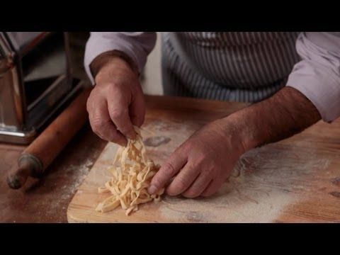 The great Gennaro Contaldo - Jamie's Italian mentor - shows how to make lovely Tagliatelle shape pasta in an Amalfi lemon grove.