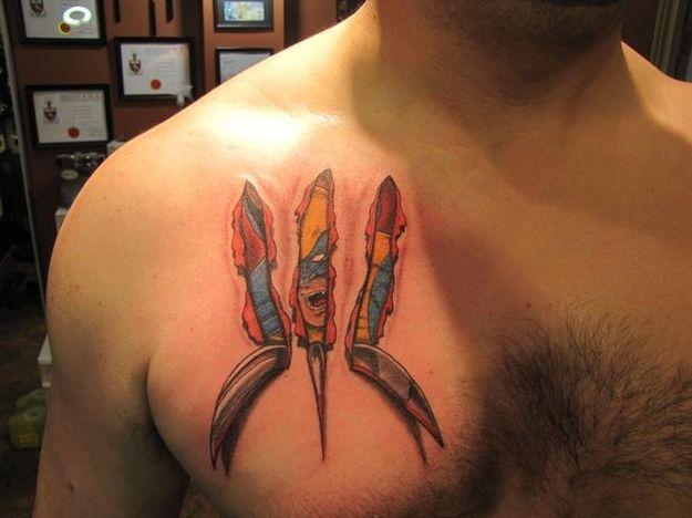 Pipoca Com Bacon -Tattoos #1: Introdução e Galeria de Imagens #wolverine #Tattoos #PipocaComBacon