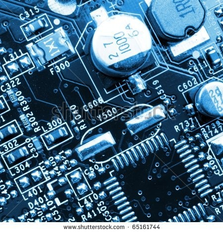 Technology Or Computer Background With Micro Chip Stock Photo 65161744 : Shutterstock
