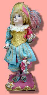 """Porcelain Dolls for Sale - Jester """"H"""" Doll Mechanical"""