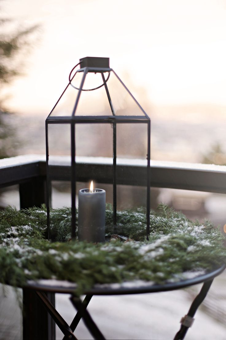 A simple outdoor christmas decoration - Stylizimo