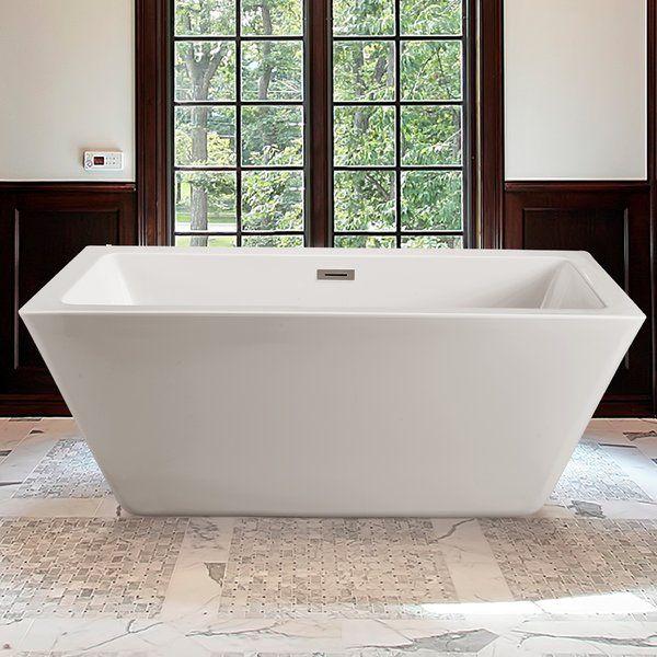 60 X 23 6 Freestanding Soaking Bathtub Free Standing Bath Tub