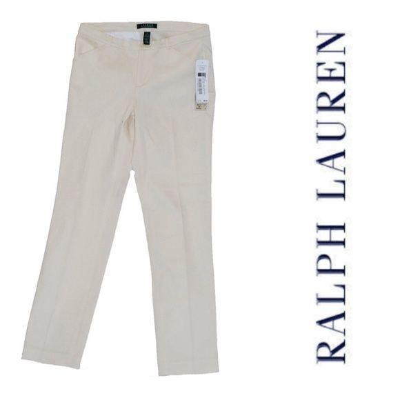 Ralph Lauren Cream Pants Size 2 cream skinny pants. New with tags. Dry clean only. Ralph Lauren Pants