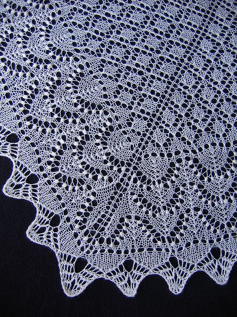 Baltic Blossoms Lace Shawl by evelyndesigns, via Flickr