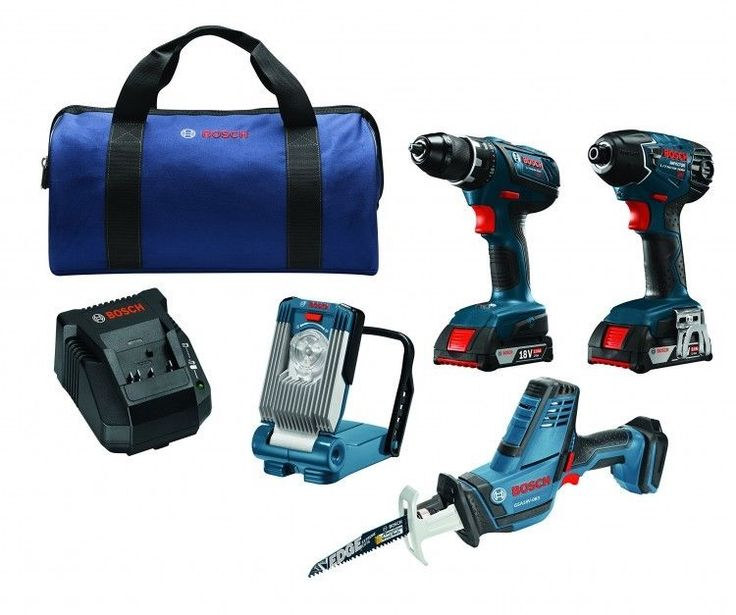 4 Power Tool Combo Kit  Drill Driver Impact Driver Compact Reciprocating Saw   #Bosch