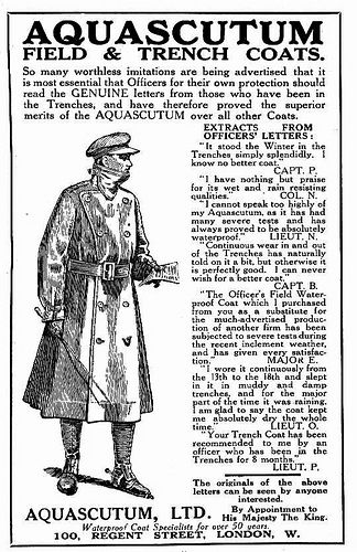 """Tweedland"" The Gentlemen's club: The Trench Coat, from WW1 to the Present Day / Watch the BBC Vídeo below /First World War Officer's Trenchcoat"