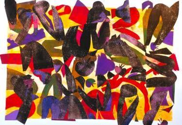 "Saatchi Art Artist Laurie Raskin; Printmaking, ""Homage To Matisse - Limited Edition #4 of 5"" #art"