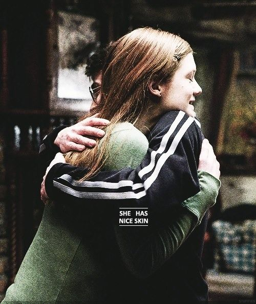 """Harry Potter and Ginny Weasley - """"She has nice skin"""" :) <<< it's movie Ginny but hey I'll go with it"""