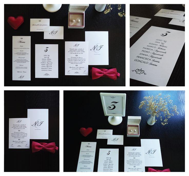 ClassicBlack Wedding Stationery /// www.inlove.pt