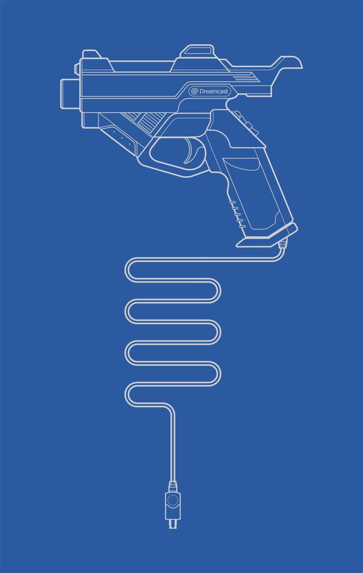 The Best :: Light Gun (Blueprint) by afo-art.deviantart.com on @deviantART Sega Dreamcast Lightgun Controller
