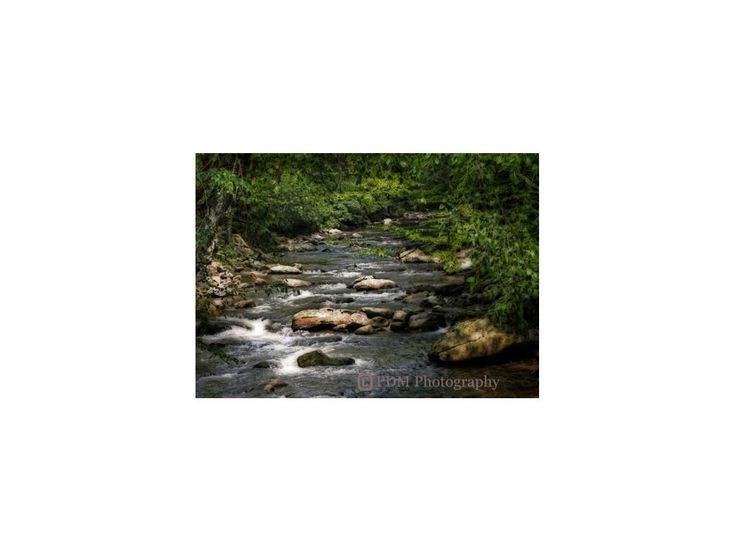 Smoky Mountain River, Landscape Photography, stream, boulders, forest,  nature photograph