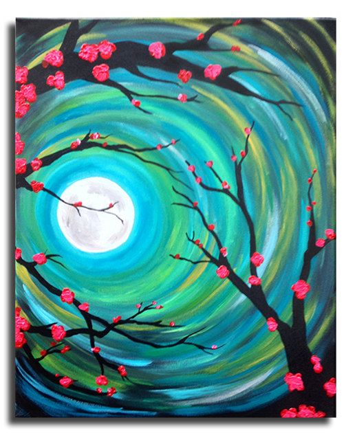 Azul+Celeste++Original+acrylic+on+16x20+by+ArstyFartsyMommaBear