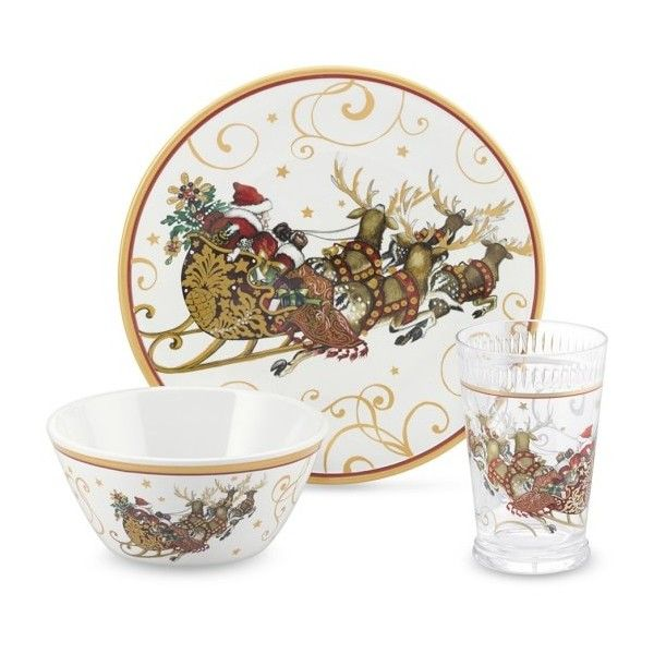 u0027Twas The Night Before Christmas Kids Dinnerware Set ($37) ? liked on Polyvore  sc 1 st  Pinterest & 73 best Twas the night before Christmas dinnerware set images on ...
