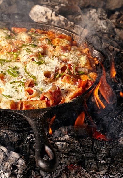Skillet Baked Ziti/ The Camping Kitchen