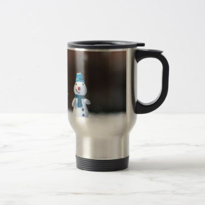 Winter Christmas Snow Toy Travel Mug - winter gifts style special unique gift ideas