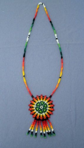 Huichol Indian Hand-beaded Necklace