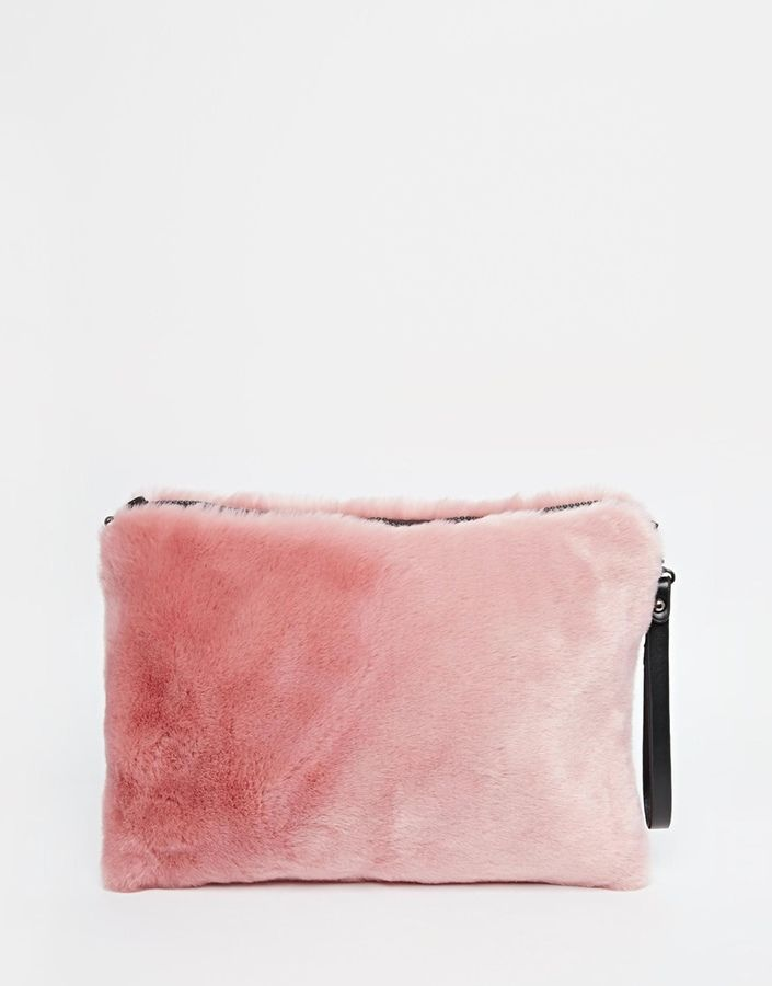 Nali Faux Fur Clutch Bag