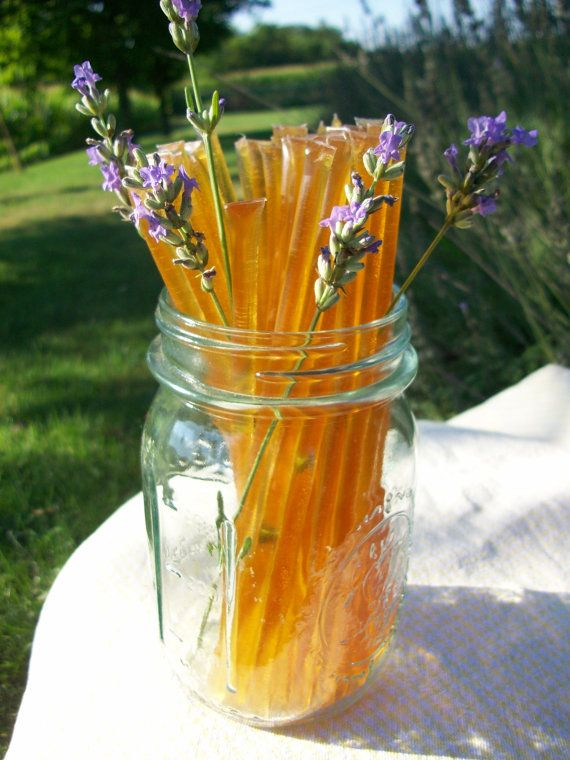 Honey Sticks - Raw Lavender Infused Honey - great for travel or Halloween!