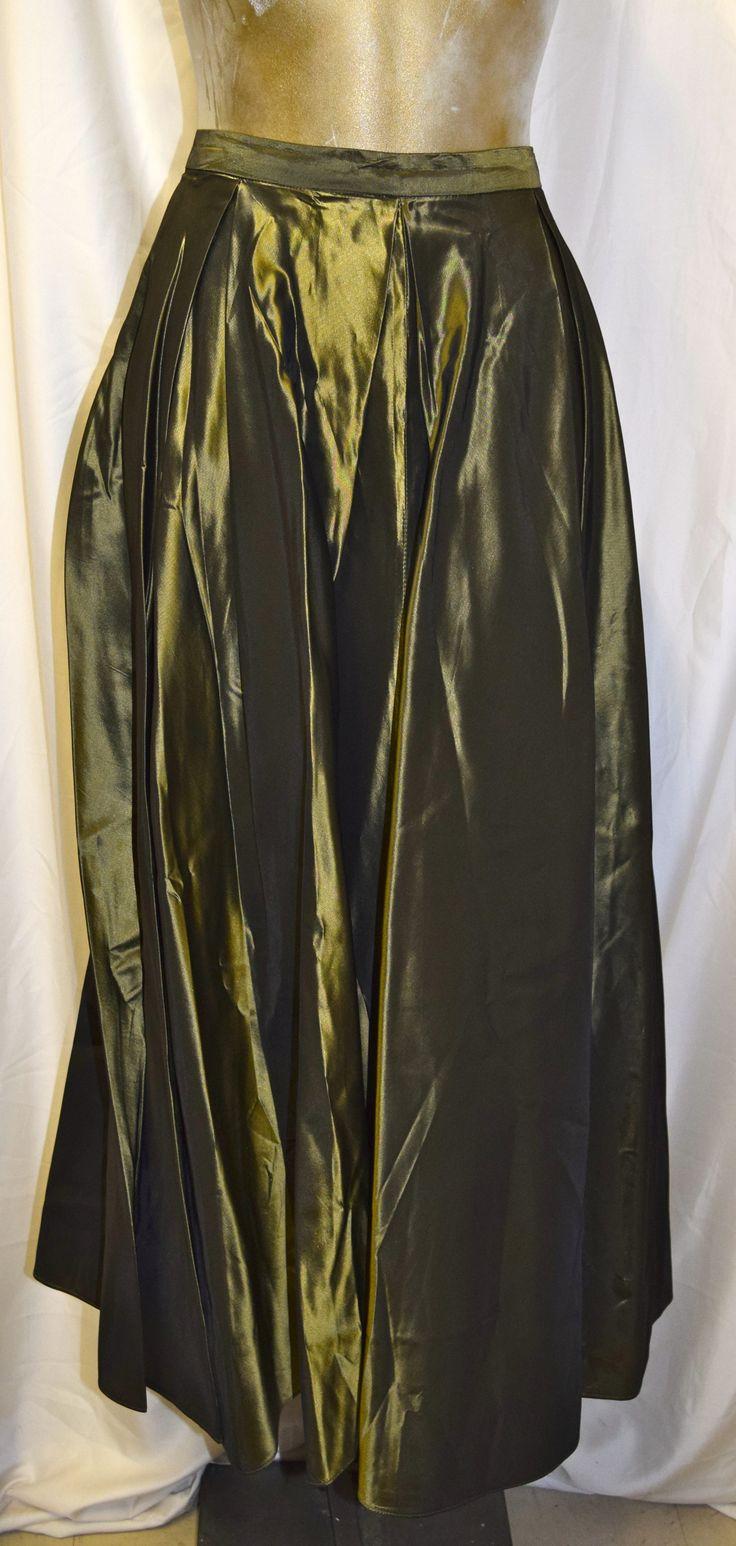 Vintage Frank Usher Olive Green Formal Skirt