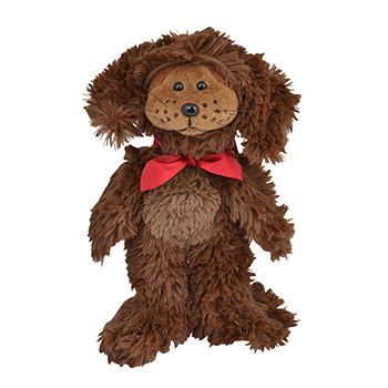 Wish List - Bruno The Chocolate Labrador Bear is a very happy go lucky pooch. His favourite thing to do is to visit all the food shops in Beanie Town. He's noticed that if he wags his tail rapidly and smiles nicely he will get a tasty morsel to eat!